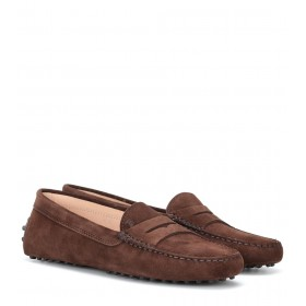 Tod's Women's Shoes Gommino suede loafers P00340281