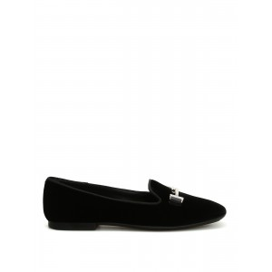 Tod'S Women's Shoes 47A Double T velvet loafers  XXW47A0V141HGCB999